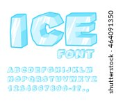 ice font. cold letters.... | Shutterstock .eps vector #464091350
