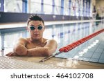 quadriplegic swimmer posing for ... | Shutterstock . vector #464102708