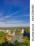 Small photo of IGUAZU, BRAZIL - MAY 14, 2016: the iguazu falls are located between the brazilian state of parana and the argentian state of misiones
