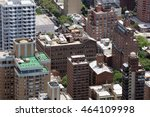 aerial view of rooftops over a... | Shutterstock . vector #464109998
