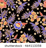 seamless batik pattern.able to... | Shutterstock . vector #464113358