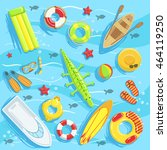 water toys and other objects... | Shutterstock .eps vector #464119250