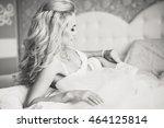 beautiful sexy young women... | Shutterstock . vector #464125814