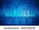 2d illustration business graph...   Shutterstock . vector #464128028