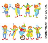 collection of colorful friendly ... | Shutterstock .eps vector #464129726