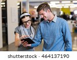 young colleagues using digital... | Shutterstock . vector #464137190