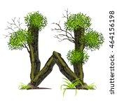 tree font on white background... | Shutterstock .eps vector #464156198
