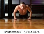 young adult athlete doing push...   Shutterstock . vector #464156876