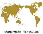 a world map is a map of most or ... | Shutterstock . vector #464159288