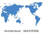 a world map is a map of most or ... | Shutterstock . vector #464159306