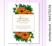 vintage delicate invitation... | Shutterstock .eps vector #464170136
