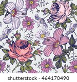 seamless pattern. beautiful... | Shutterstock .eps vector #464170490