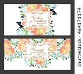 vintage delicate invitation... | Shutterstock .eps vector #464171174