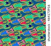 waveboard seamless pattern   Shutterstock .eps vector #464173916