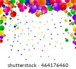 birthday background with... | Shutterstock .eps vector #464176460