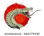 rattle snake  a hissing snake ... | Shutterstock .eps vector #464179430