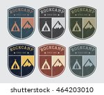 Badge Logo Camp With Rock And...