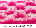 knitting texture pattern with... | Shutterstock . vector #464210990