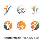 fun people healthy life icon... | Shutterstock .eps vector #464229410