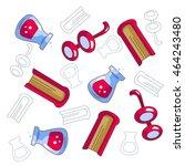 vector pattern of different... | Shutterstock .eps vector #464243480