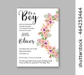 baby shower invitation template ... | Shutterstock .eps vector #464253464