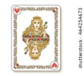Queen Of Hearts. Playing Card....