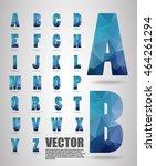 low poly alphabet  vector...   Shutterstock .eps vector #464261294
