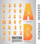 low poly alphabet  vector... | Shutterstock .eps vector #464261324