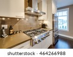 modern  bright  clean  kitchen... | Shutterstock . vector #464266988