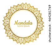 vector beautiful mandala.... | Shutterstock .eps vector #464281769
