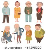 aged people. older men and... | Shutterstock .eps vector #464295320