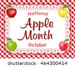 apple month  national holiday... | Shutterstock . vector #464300414