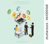isometric business people... | Shutterstock .eps vector #464300468