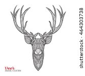 decorative deer with pattern....   Shutterstock .eps vector #464303738