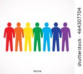 colored seven people  isolated... | Shutterstock .eps vector #464307704