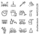 car wash icons set. automatic...   Shutterstock .eps vector #464313128