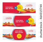 diwali festival banner design... | Shutterstock .eps vector #464315744