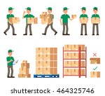 warehouse inventory and... | Shutterstock .eps vector #464325746