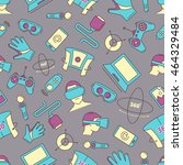 seamless pattern with set of... | Shutterstock . vector #464329484