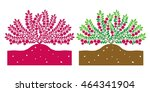 cranberry plant with leaves and ...   Shutterstock .eps vector #464341904