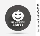 halloween pumpkin sign icon.... | Shutterstock . vector #464342558