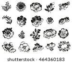 flower set | Shutterstock .eps vector #464360183