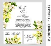 romantic invitation. wedding ... | Shutterstock . vector #464361653