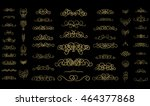 vintage decor elements and... | Shutterstock .eps vector #464377868