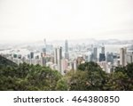 blur view on hong kong street   ... | Shutterstock . vector #464380850