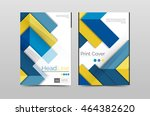 geometric brochure front page ... | Shutterstock .eps vector #464382620