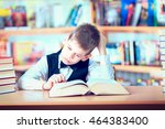 kid  reading book  pupil learn... | Shutterstock . vector #464383400