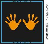 stop hand icon vector.   Shutterstock .eps vector #464384690