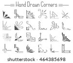 set of 24 hand drawn corners... | Shutterstock .eps vector #464385698