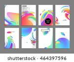 abstract background with liquid ... | Shutterstock .eps vector #464397596